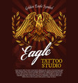 eagle bird mascot or heraldry symbol poster vector image vector image