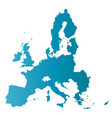 european union territory blue gradient silhouette vector image vector image