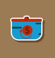 fashion patch sale sticker purse discount vector image