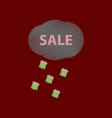 flat shading style icon sale gift rain vector image vector image