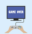 game is over vector image