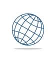 globe line logo template vector image