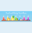 healthy diet raw fruit smoothie drink collection vector image vector image