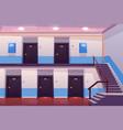 house entrance interior empty hallway or corridor vector image vector image