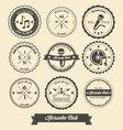 Karaoke Vintage Label vector image vector image
