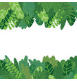 leaves background horizontal vector image vector image