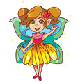 little fairy on white vector image vector image