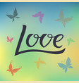 love for logotype flyer vector image