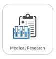 medical research flat icon vector image