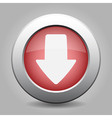 metal button with the red arrow vector image vector image