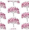 pattern with hand drawn sakura vector image