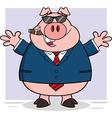 Pig cartoon vector image vector image