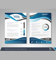 presentation flyer design vector image vector image