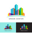 real estate logo building development icon vector image