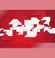red and grey concept geometric shapes background vector image vector image