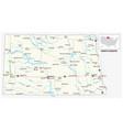 road map us american state north dakota vector image vector image