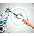 robotic arm realistic composition vector image