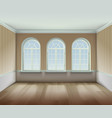 Room With Arched Windows vector image vector image