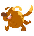 running dog animal character vector image