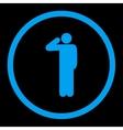 Salute icon vector image