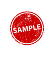 sample sign sticker stamp texture vector image vector image