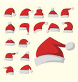 santa claus fashion red hat modern elegance cap vector image vector image