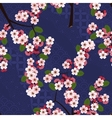 Seamless floral pattern with cherry sakura flowers vector image
