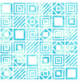 seamless geometric scratched pattern in turquoise vector image vector image