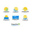 set of beach logo design vector image