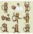 Set of Chinese Zodiac - Monkeys vector image vector image