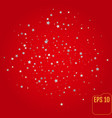 shiny silver stars on red background vector image