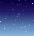 simple starry night vector image vector image