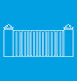 stone fence icon outline style vector image