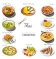 Thai cuisine set Collection of food dishes