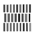 Tire shapes set vector image vector image