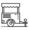 trailer shop icon outline style vector image