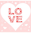Valentine day pink love invitation card vector image vector image
