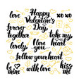 valentines day hand drawn lettering vector image vector image