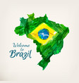 watercolor brazilian map vector image vector image