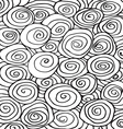 Waves curl hand-drawn pattern abstract background vector image
