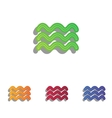 Waves sign Colorfull applique icons vector image vector image