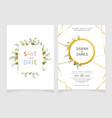 wedding invitation card template floral invite vector image vector image