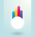 white decorative ring with colored arrows vector image vector image