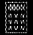 white pixel calculator icon vector image vector image