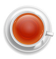 white tea cup vector image vector image