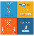 wntd world no tobacco day celebrated on 31 may vector image vector image
