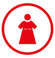 woman figure rounded icon vector image vector image
