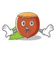 surprised hazelnut mascot cartoon style vector image