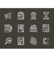 White line icons for personnel search vector image