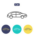 car line icon outline sign vector image